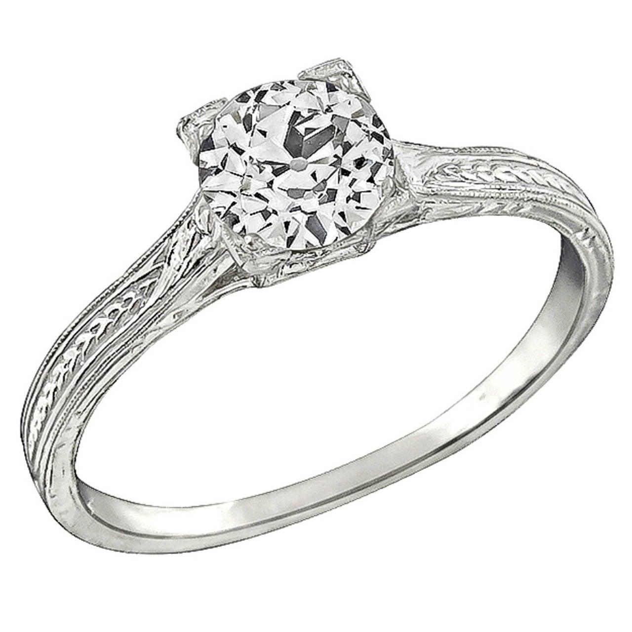 GIA 0.71ct Diamond Engagement Ring