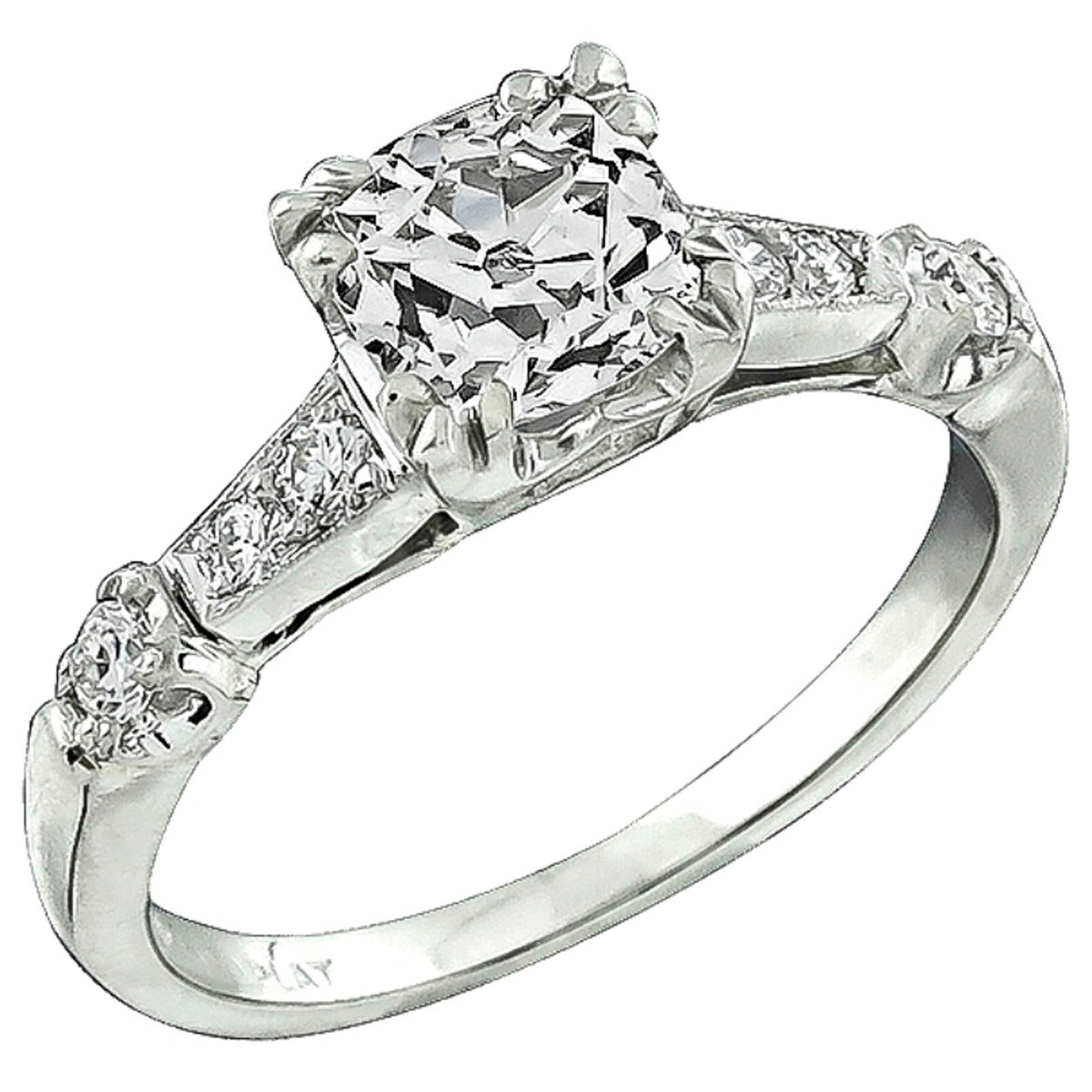 1930s 1.13ct Diamond Engagement Ring
