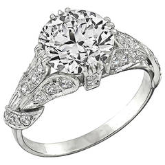 3.01 Carat GIA Certified Diamond Platinum Ring