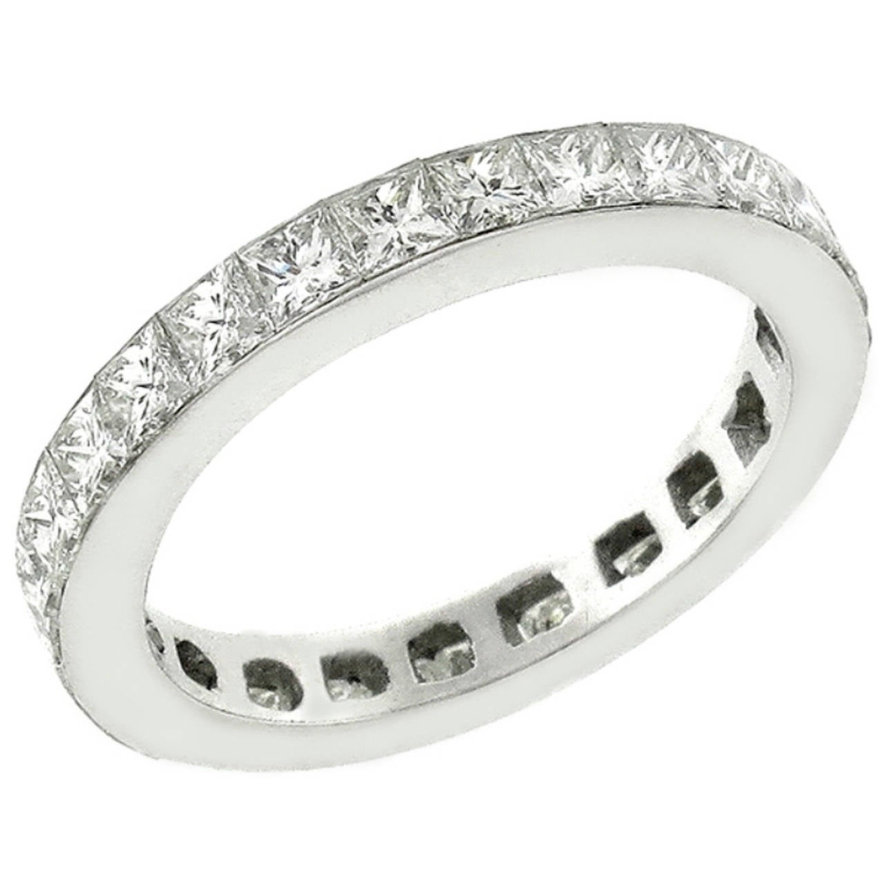 2 25 Carat Princess Cut Diamonds Platinum Eternity Band At