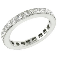 2.25 Carat Princess Cut Diamonds Platinum Eternity Band