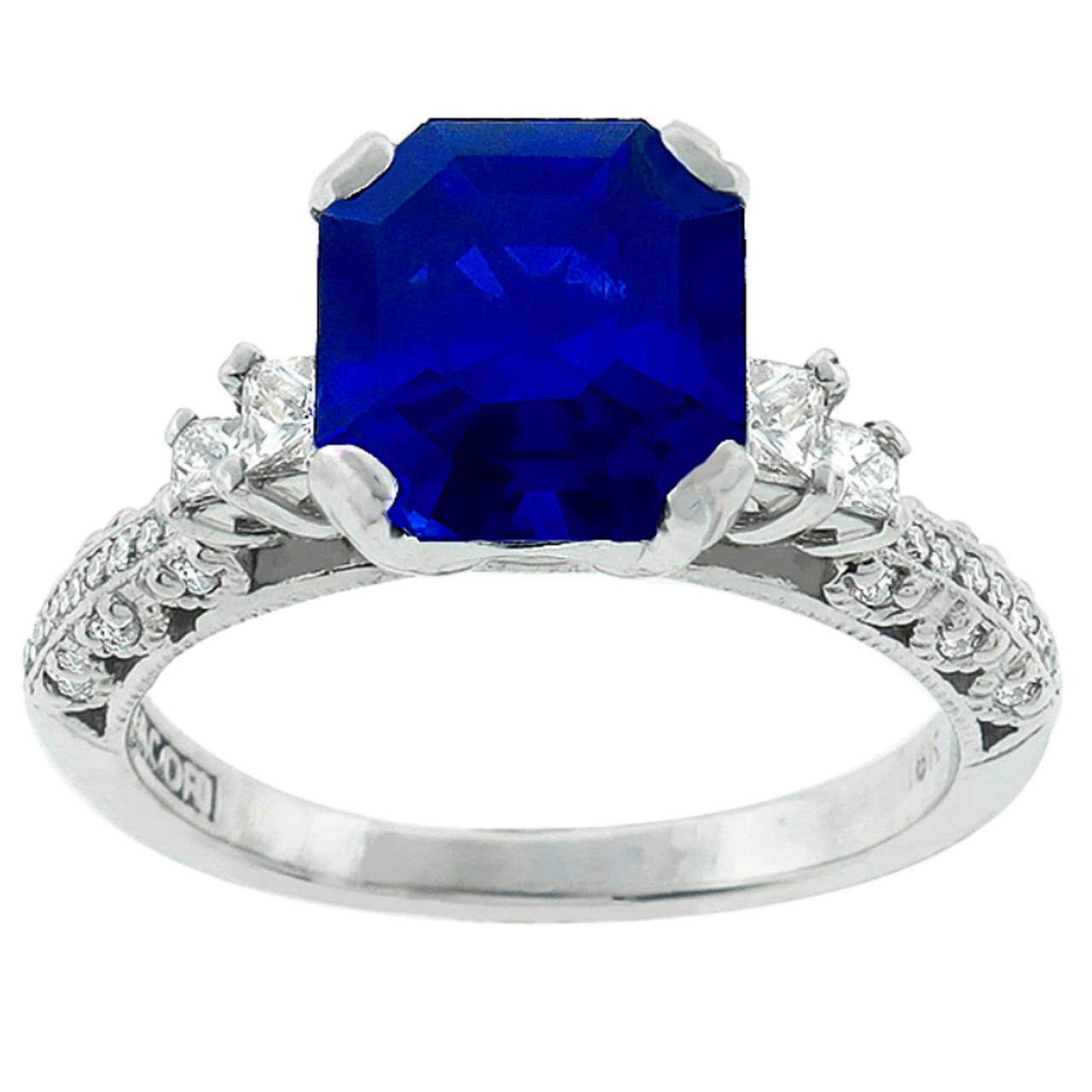 Tacori 3 75ct Sapphire Diamond Engagement Ring For Sale At