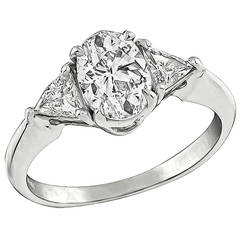 1.01 Carat Oval Cut Diamond Engagement Ring