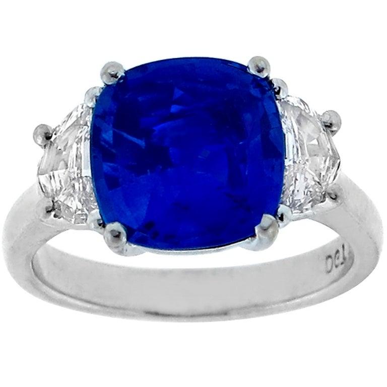 4 62 carat ceylon sapphire platinum engagement