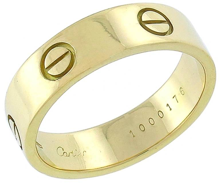 Cartier Love Gold Wedding Band 3