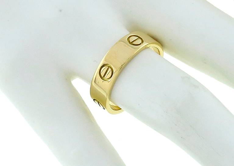 Cartier Love Gold Wedding Band 4