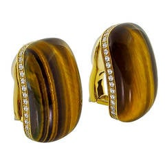 Roberto Coin Tiger Eye Diamond Earrings