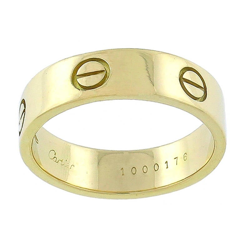 Cartier Love Gold Wedding Band 1