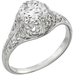 Edwardian Diamond Gold Engagement Ring