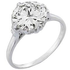 2.01 Carat Diamond Platinum GIA Certified Engagement Ring