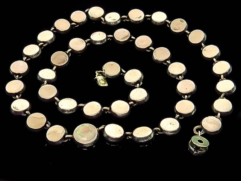 Women's Georgian Diamond Silver Gold Necklace For Sale