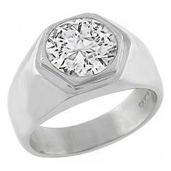 Cartier 2.16ct. Diamond Platinum Ring