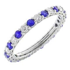 Tiffany & Co Diamond Sapphire Eternity Wedding Band