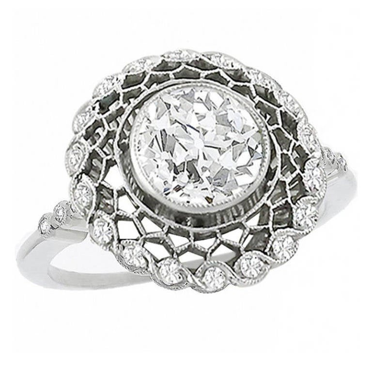 Art Deco 1.16ct. Diamond Enagement Ring