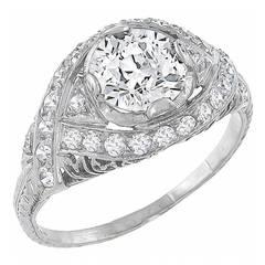 Antique GIA Certified 1.27ct. Diamond Ring
