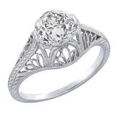 Edwardian 1.23ct. Old Mine Cut Diamond Ring