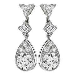 Stunning Ruby Diamond Onyx Emerald Gold Earrrings For Sale