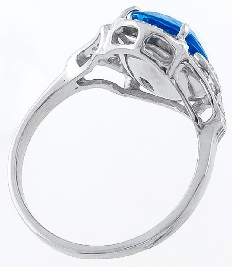 4 19 carat no heat sapphire ring at 1stdibs