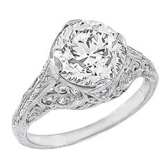 2.06 Carat Diamond Platinum Engagement Ring