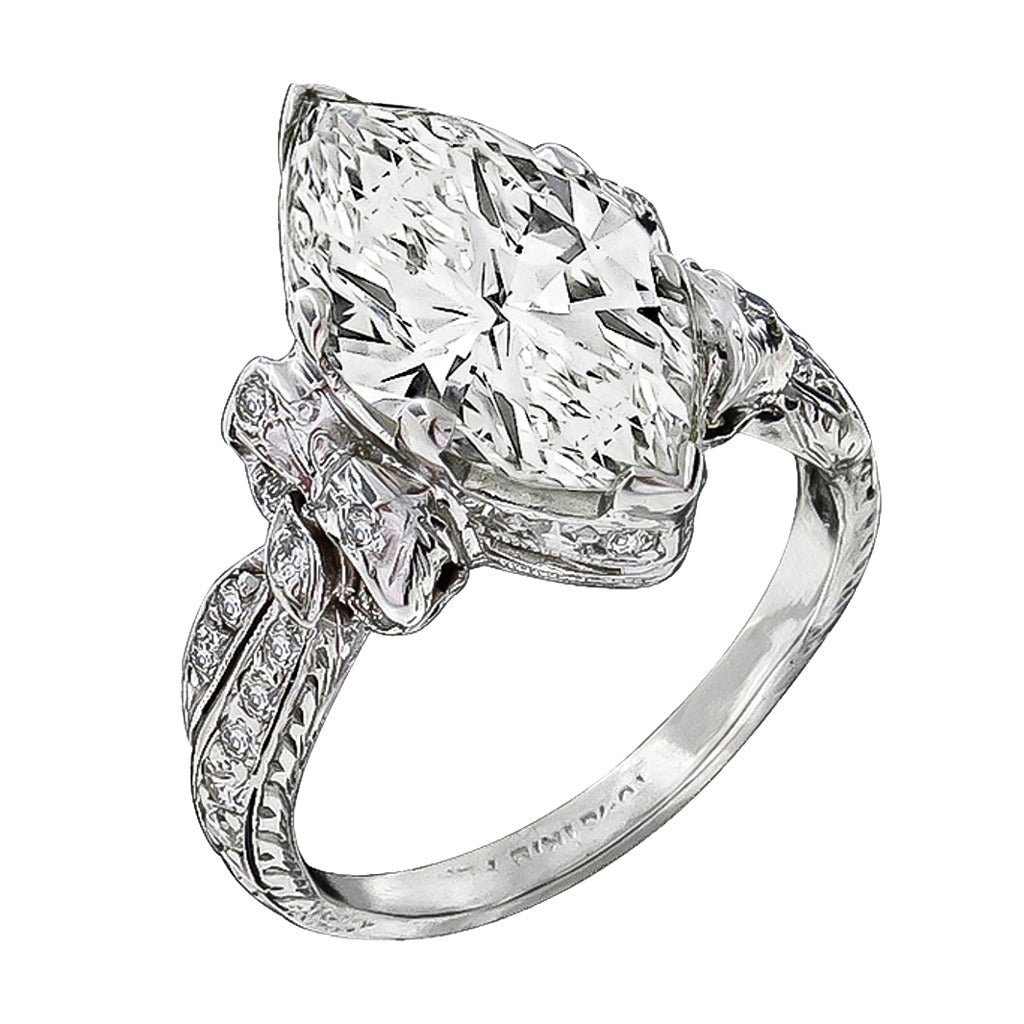 Antique 324 Carat Diamond Platinum Engagement Ring At 1stdibs. Horizontal Wedding Rings. Sea Glass Engagement Rings. Softball Rings. Travel Wedding Rings. Glass Wedding Rings. 10 Mm Wedding Rings. Mustang Wedding Rings. Jewellery Wedding Rings