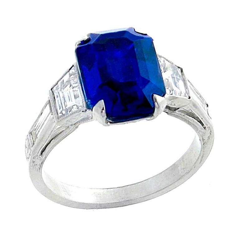 5 70 carat cert no heat sapphire