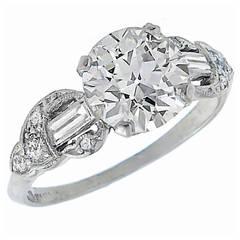 Antique 1.79 Carat Diamond Engagement Ring