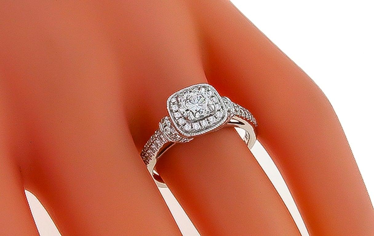Charming Vera Wang Diamond White Gold Engagement Ring 2
