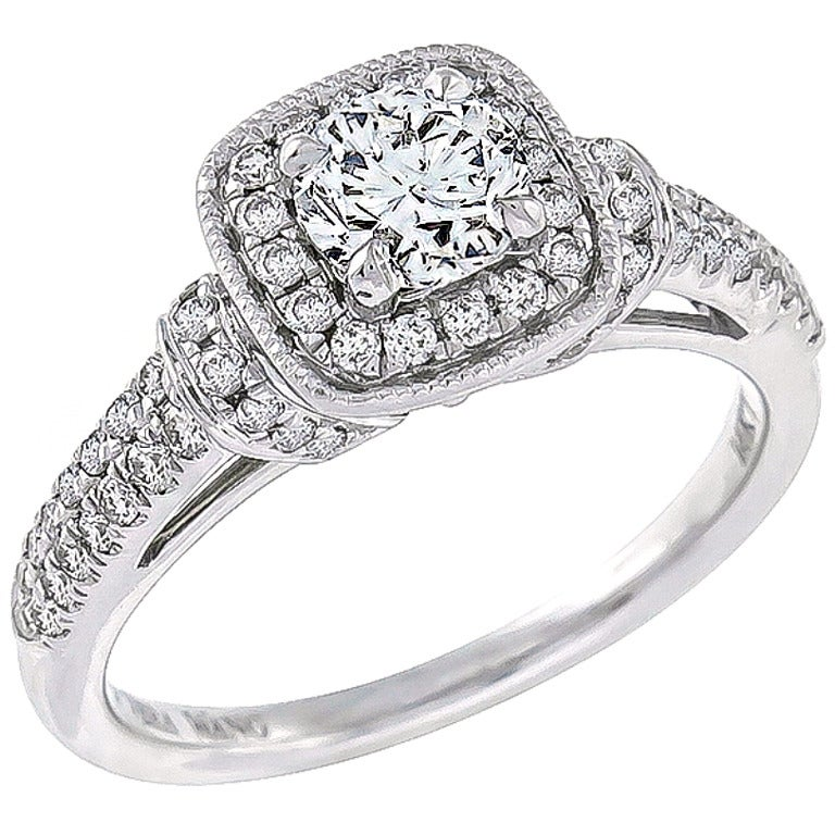 charming vera wang diamond white gold engagement ring 1 - Vera Wang Wedding Ring