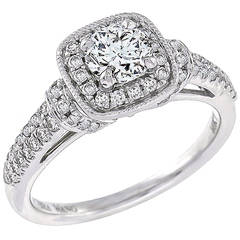 Charming Vera Wang Diamond White Gold Engagement Ring