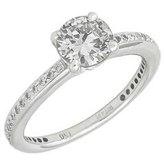 Ritani 0.86 Carat Diamond Gold Engagement Ring