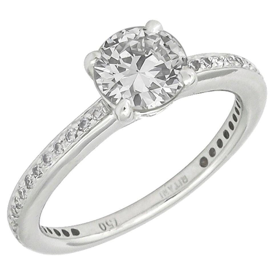 Ritani 086 Carat Diamond Gold Engagement Ring 1