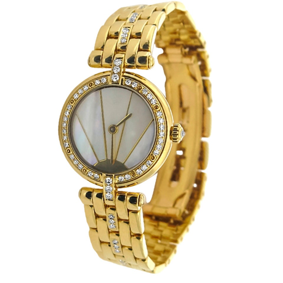 Cartier Lady's Yellow Gold and Diamond Bracelet Watch at ...
