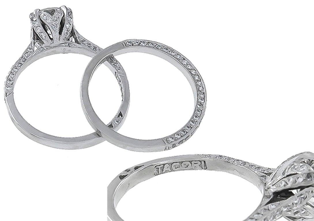 tacori engagement ring and wedding band set at 1stdibs