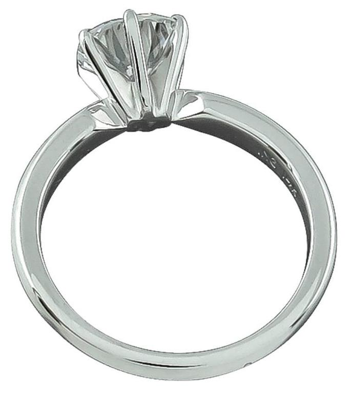 Round Cut 1.48 Carat GIA Cert Diamond gold Solitaire Engagement Ring For Sale