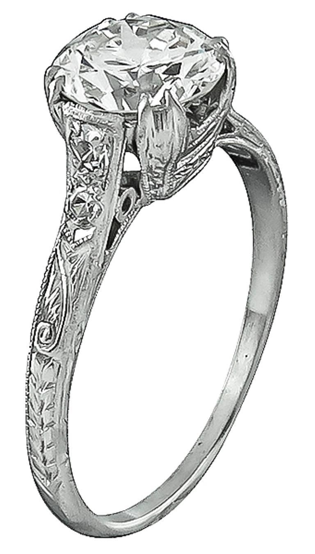 1 49 carat cert platinum engagement ring for