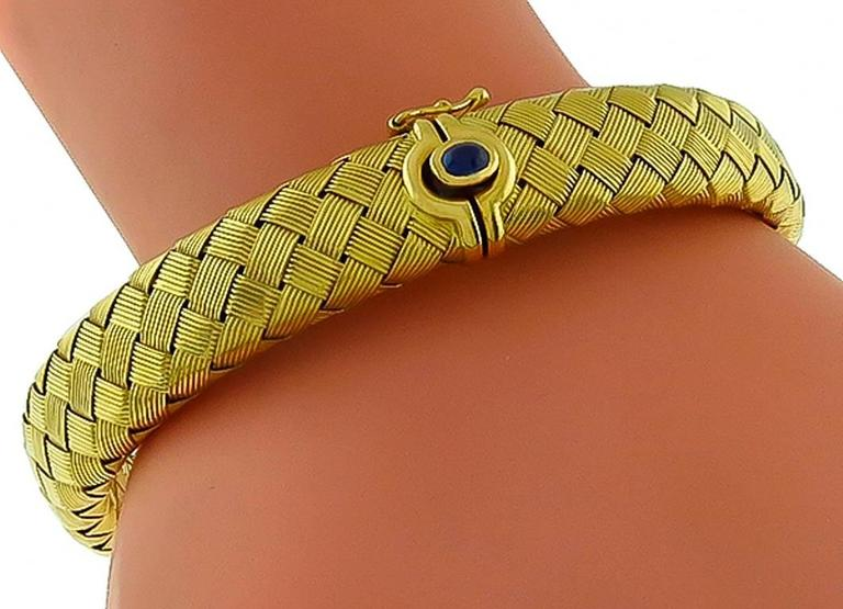 How To Basket Weave Bracelet : Roberto coin basket weave gold bangle bracelet for sale at
