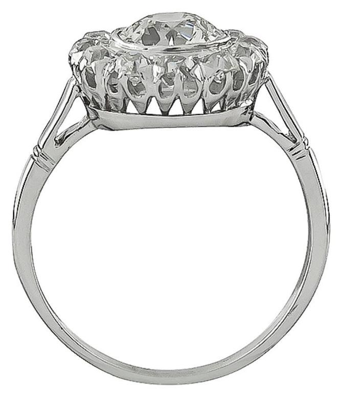 1.17 Carat Diamond Engagement Ring In Excellent Condition For Sale In New York, NY