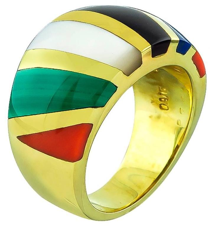 Asch Grossbardt Multi Color Gemstone Ring 4