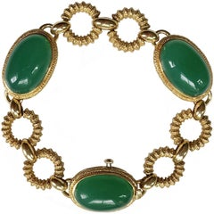 Van Cleef & Arpels Green Agate Bracelet