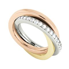 StyleRocks Diamond-Set Gold Russian Wedding Ring