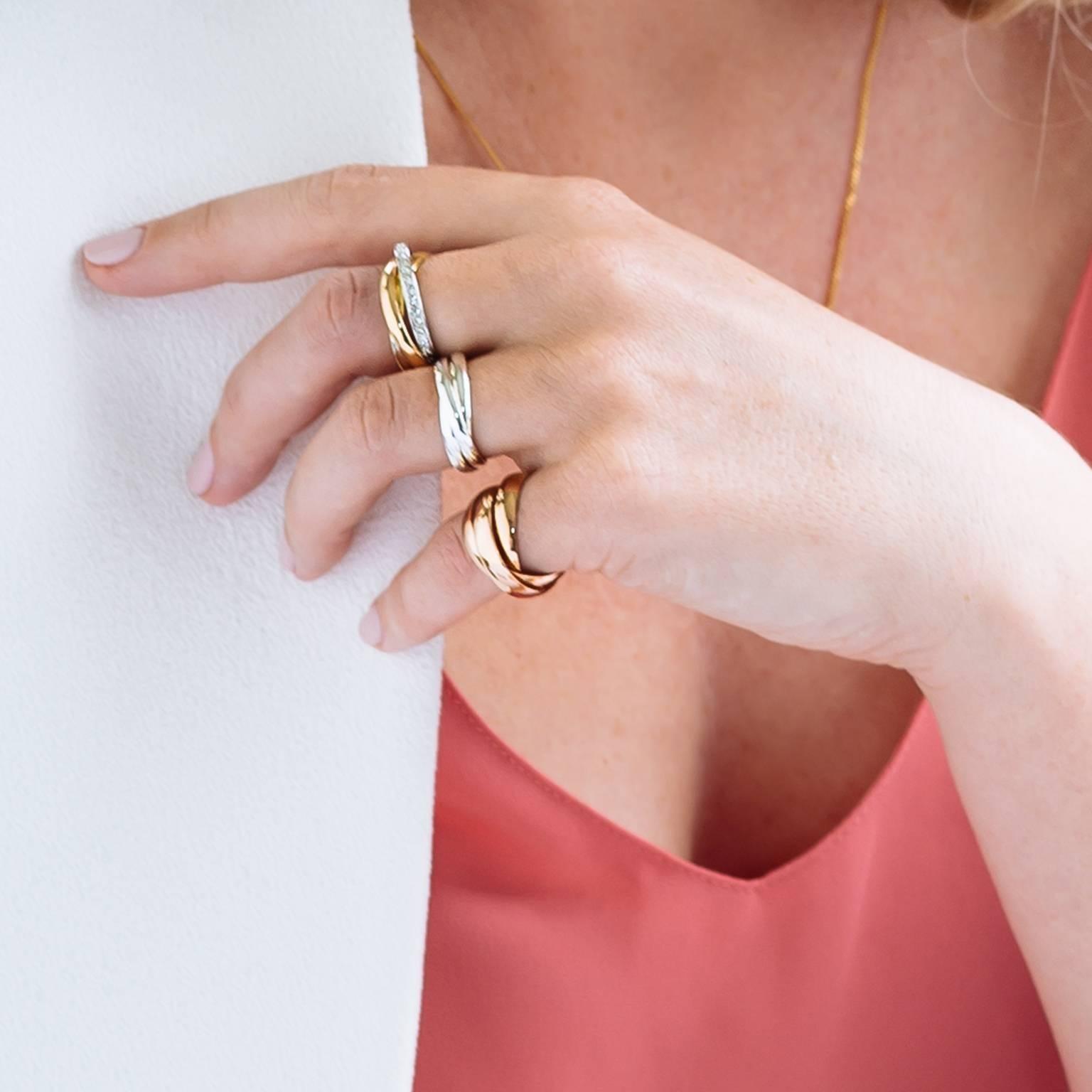 StyleRocks Diamond-Set Gold Russian Wedding Ring For Sale at 1stdibs