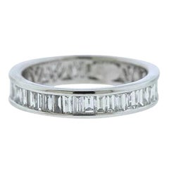 Vintage Estate Anniversary Wedding Band 1.60 Carat G/H VS/SI1 Diamonds