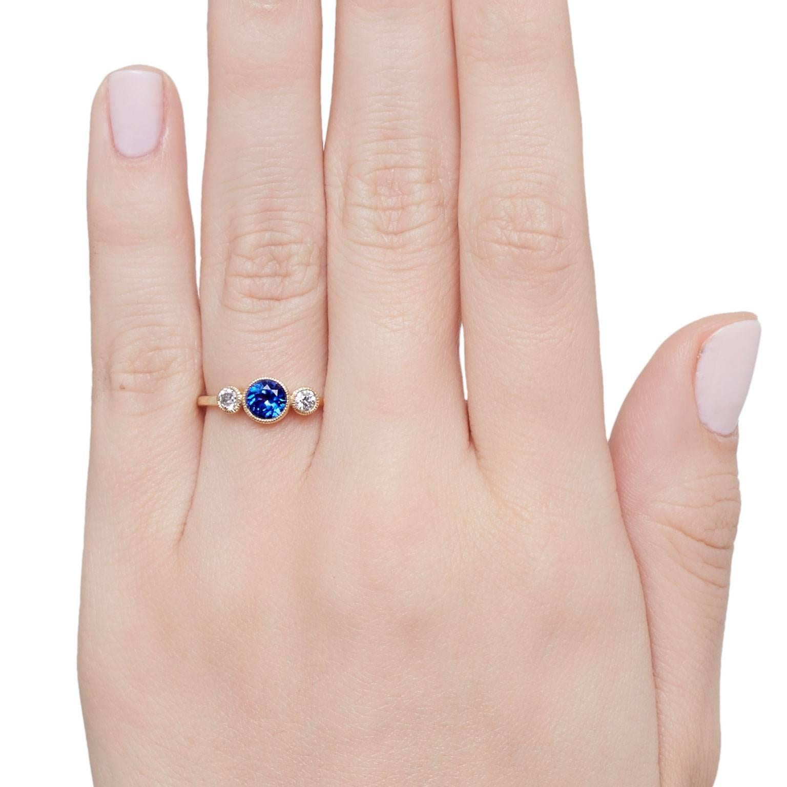 Cushla Whiting Sapphire and Diamonds set in gold \'Circles ...