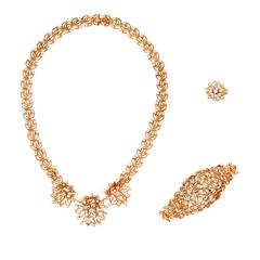 Chaumet Diamond Pink Gold Parure Set