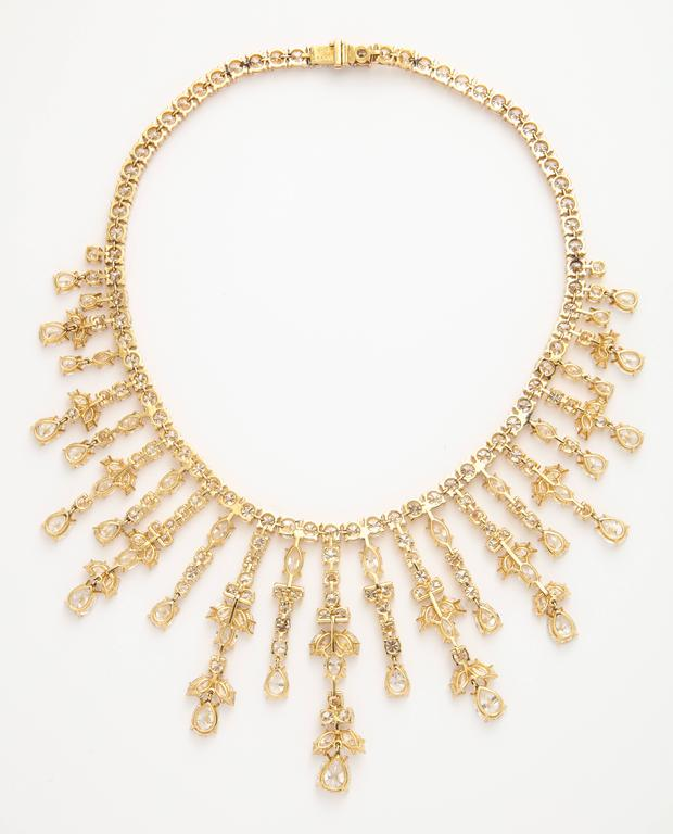 Important Van Cleef & Arpels Diamond Tania Necklace For Sale 1