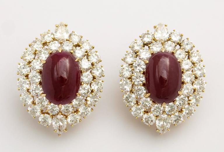 Magnificent Van Cleef & Arpels Ruby Diamond Day and Night Tassel Earrings 7