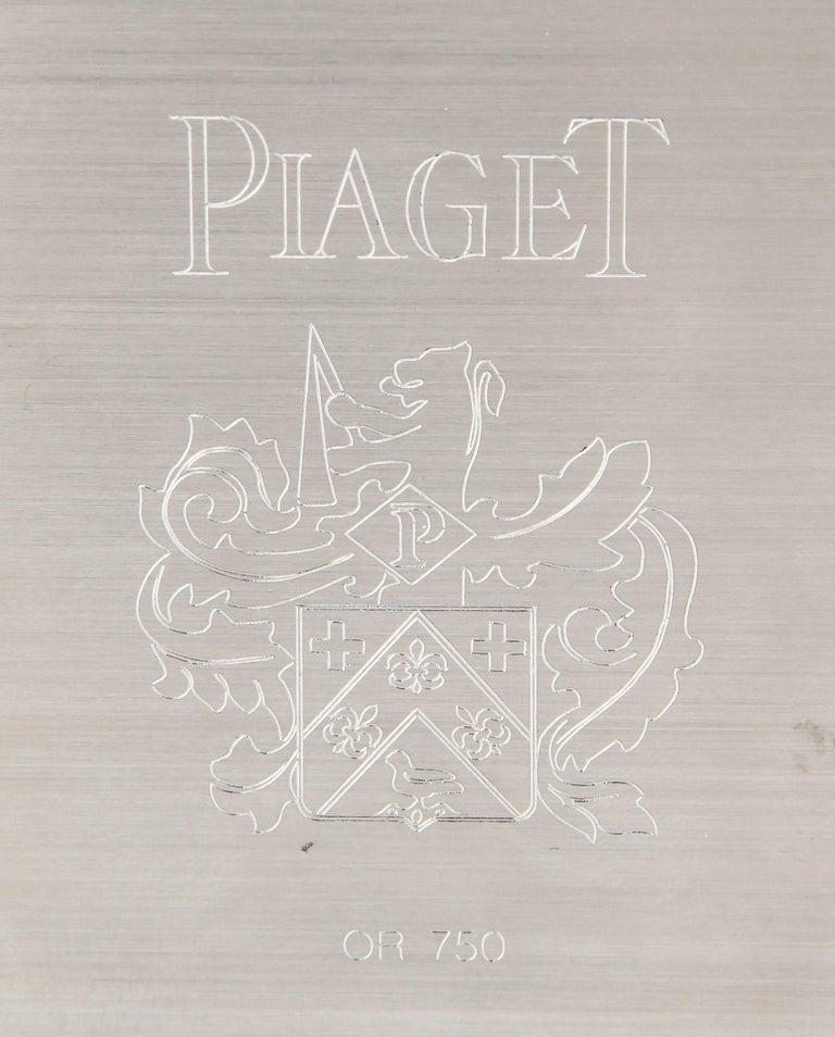 Piaget Diamond White Gold Multi Gem Table Clock For Sale