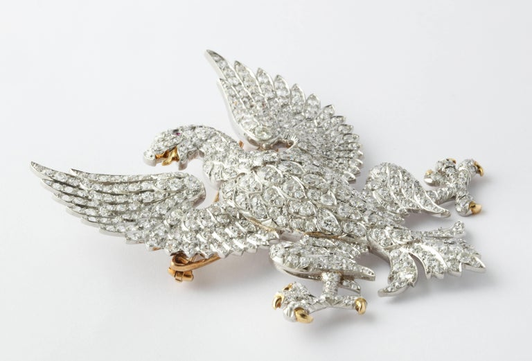Edwardian Marquis of Anglesey Crest Diamond Eagle Brooch  For Sale 2