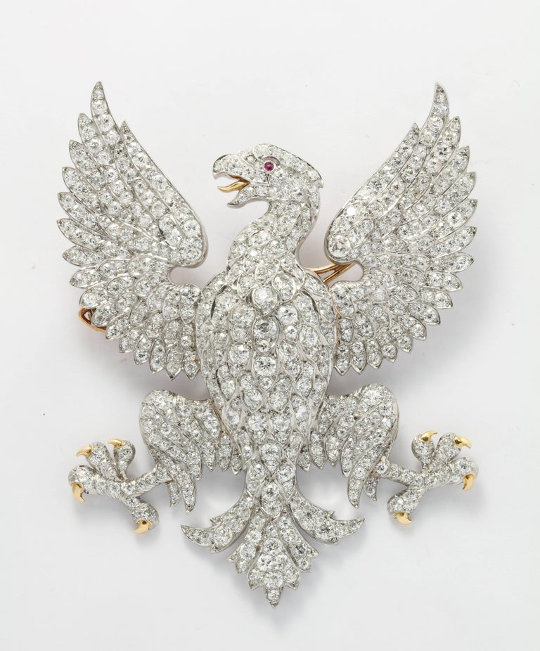 Women's or Men's Edwardian Marquis of Anglesey Crest Diamond Eagle Brooch  For Sale