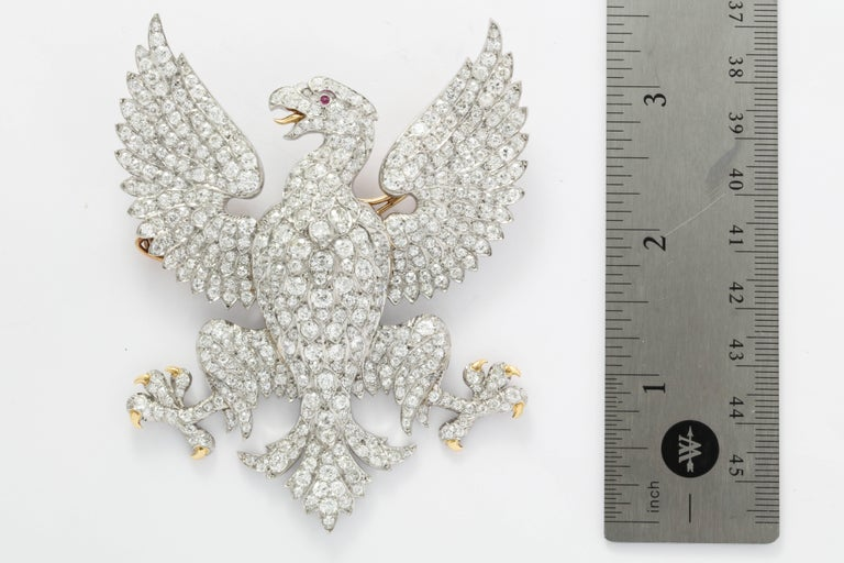 Edwardian Marquis of Anglesey Crest Diamond Eagle Brooch  For Sale 1